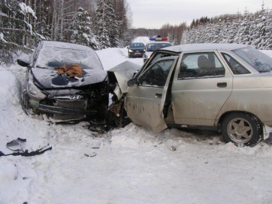 На трассе Кукуштан-Чайковский в ДТП ранено два человека - фото 1