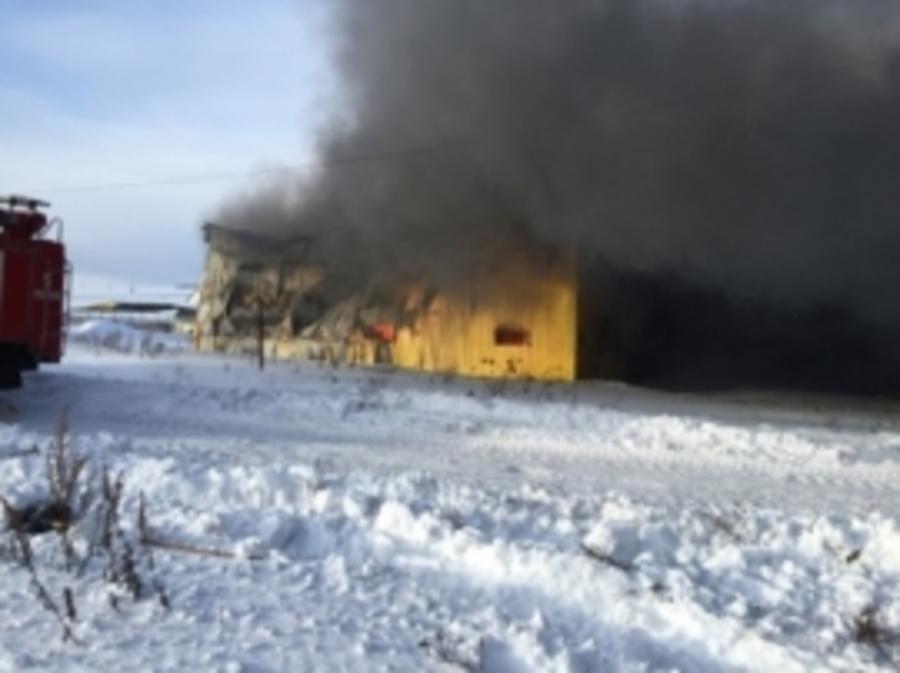 В Пермском районе пожарные потушили склад мебели - фото 1