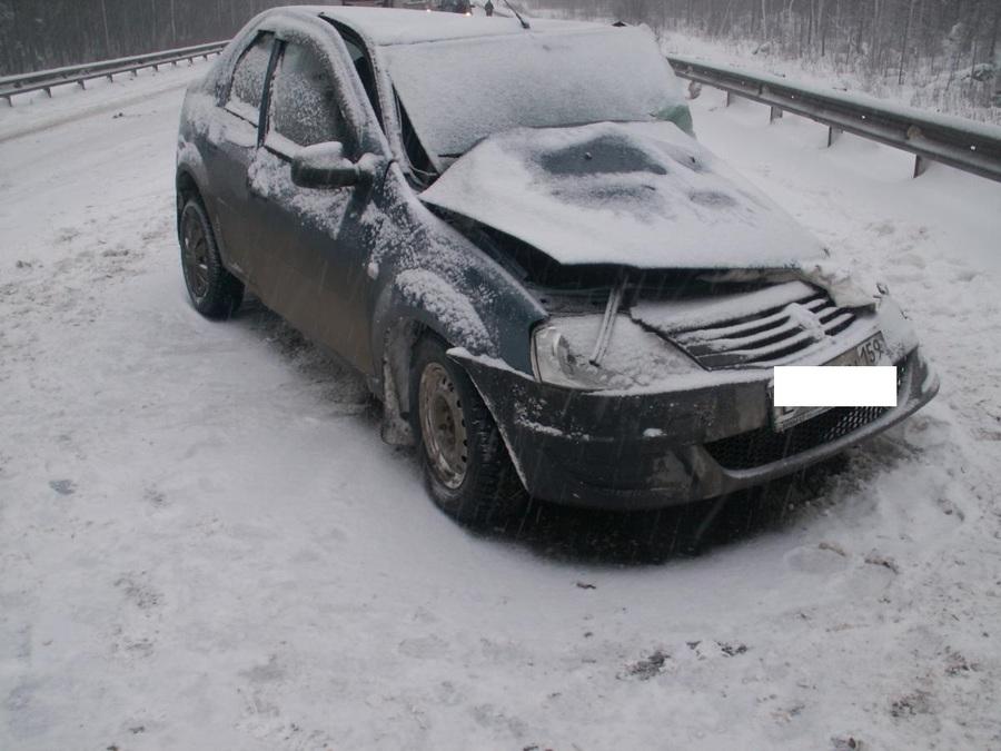 В Пермском крае в столкновении с большегрузом погибла водительница Рено