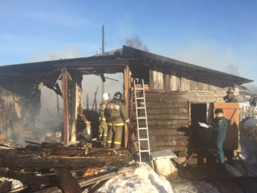 В Пермском крае двое детей погибли в горящем доме