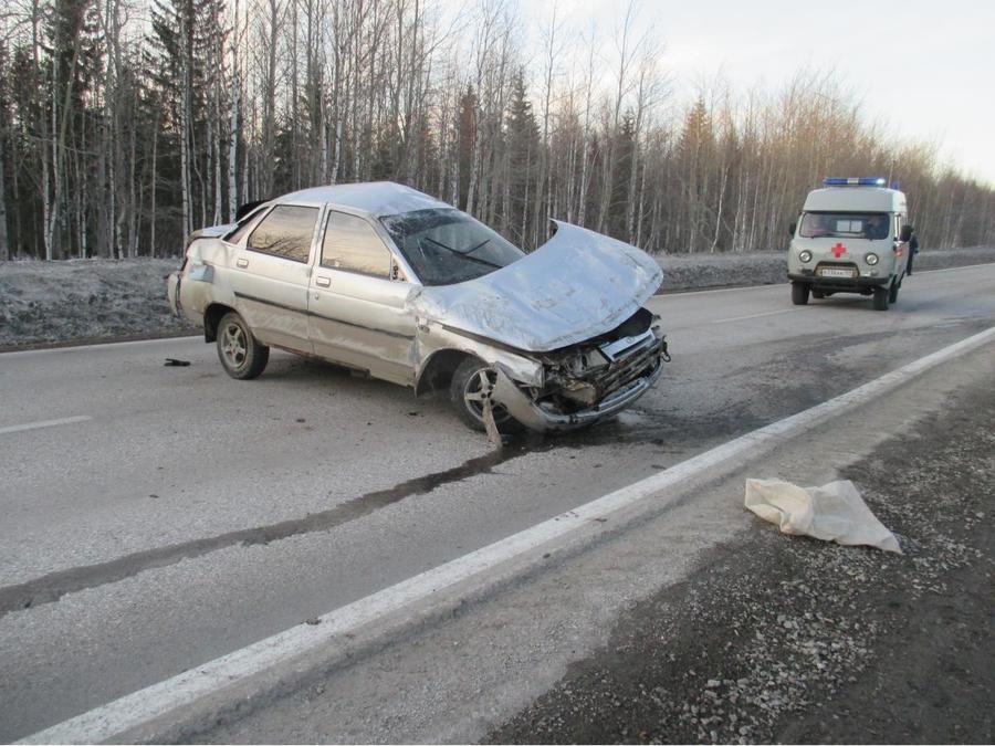 В Пермском крае в перевернувшейся «десятке» погиб водитель - фото 1