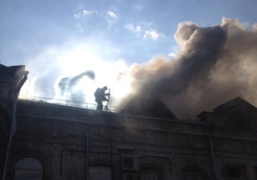 В Перми горит академия культуры