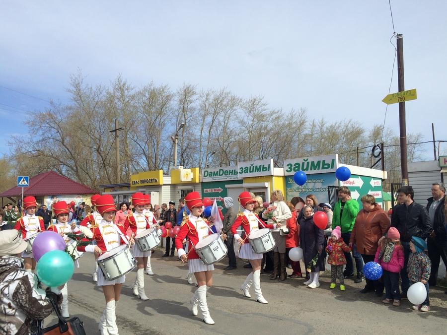 Парад Победы в уральском поселке Полазна