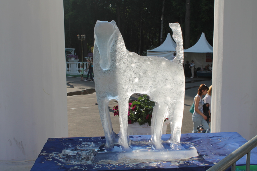 Ледовые скульпторы объявились в Перми летом - фото 1
