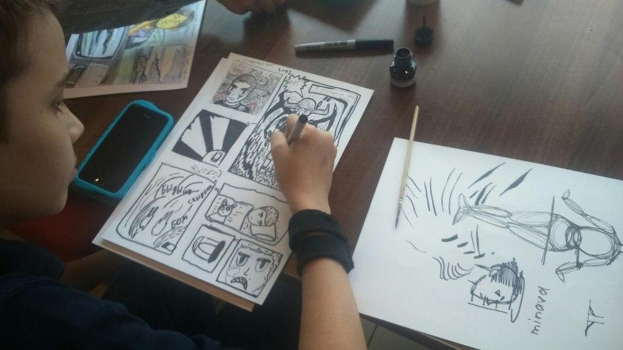 В Перми учат рисовать комиксы
