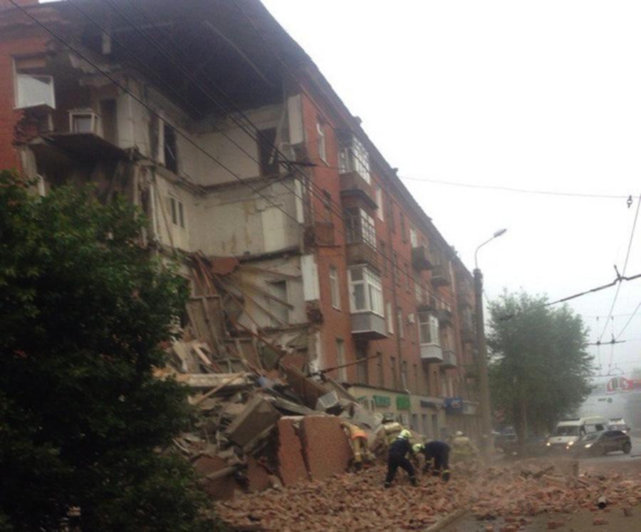В Перми обрушился угол пятиэтажного дома