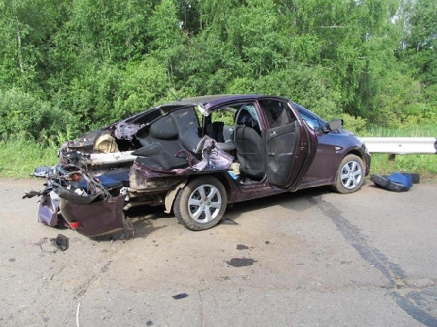 В Кунгурском районе в ДТП погиб пассажир Соляриса, четверо ранены