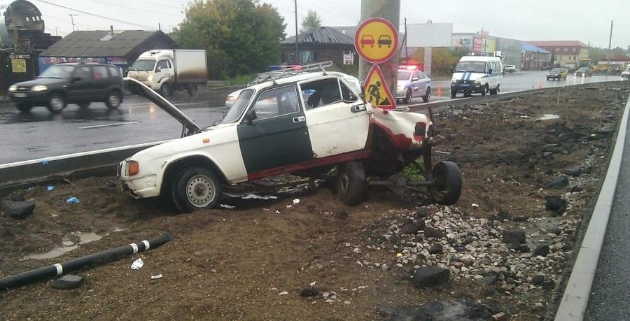 В Перми погибла женщина-водитель Волги