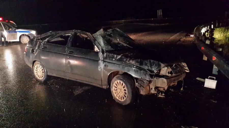В Пермском районе водитель ВАЗа перевернул автомобиль и погиб