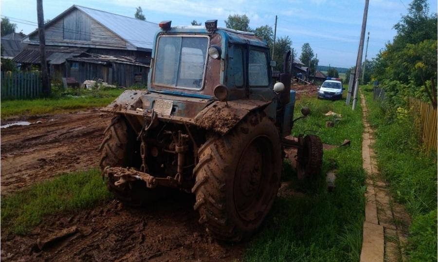 В Пермском крае трактор оборвал электропровода