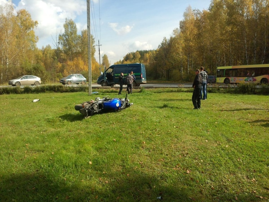 В Дзержинском районе Перми погиб мотоциклист - фото 1
