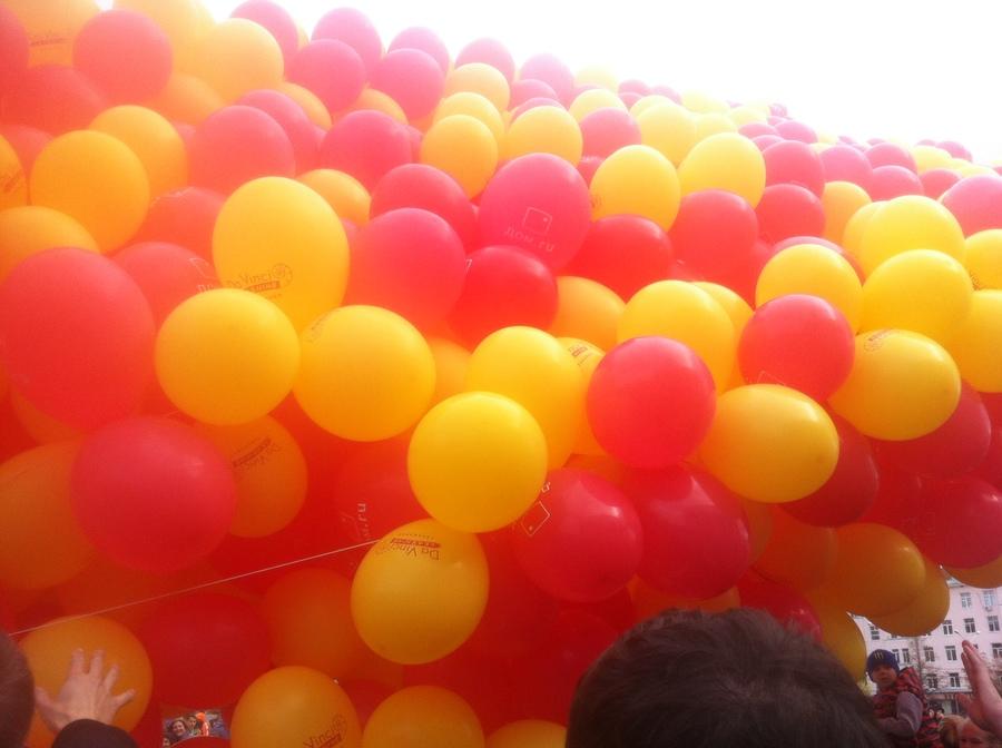 В Перми дети полетали на воздушных шариках