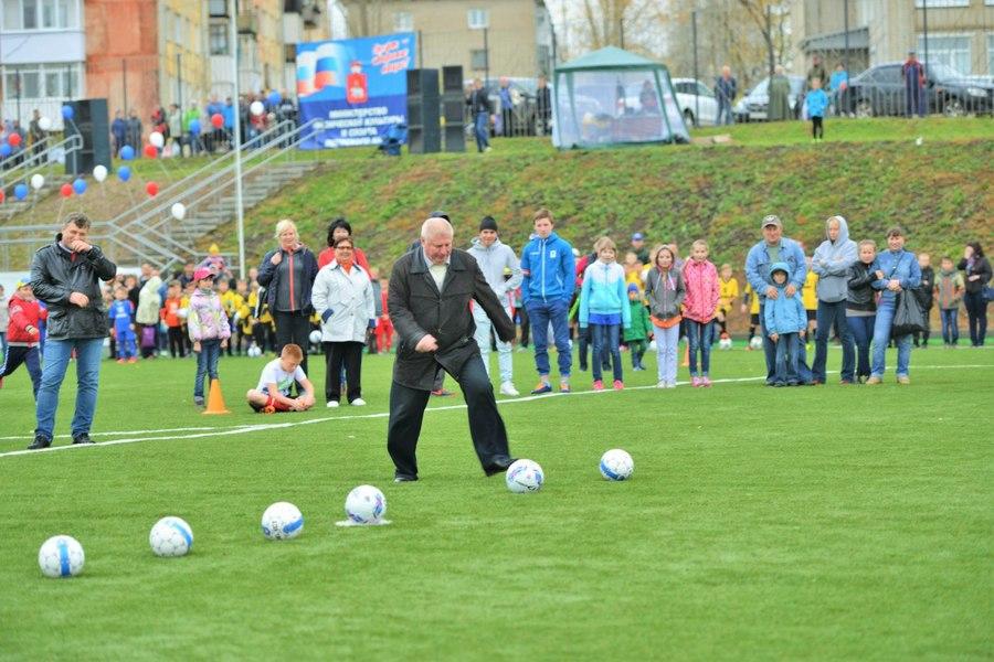 В Чусовом состоялось открытие универсального футбольного поля