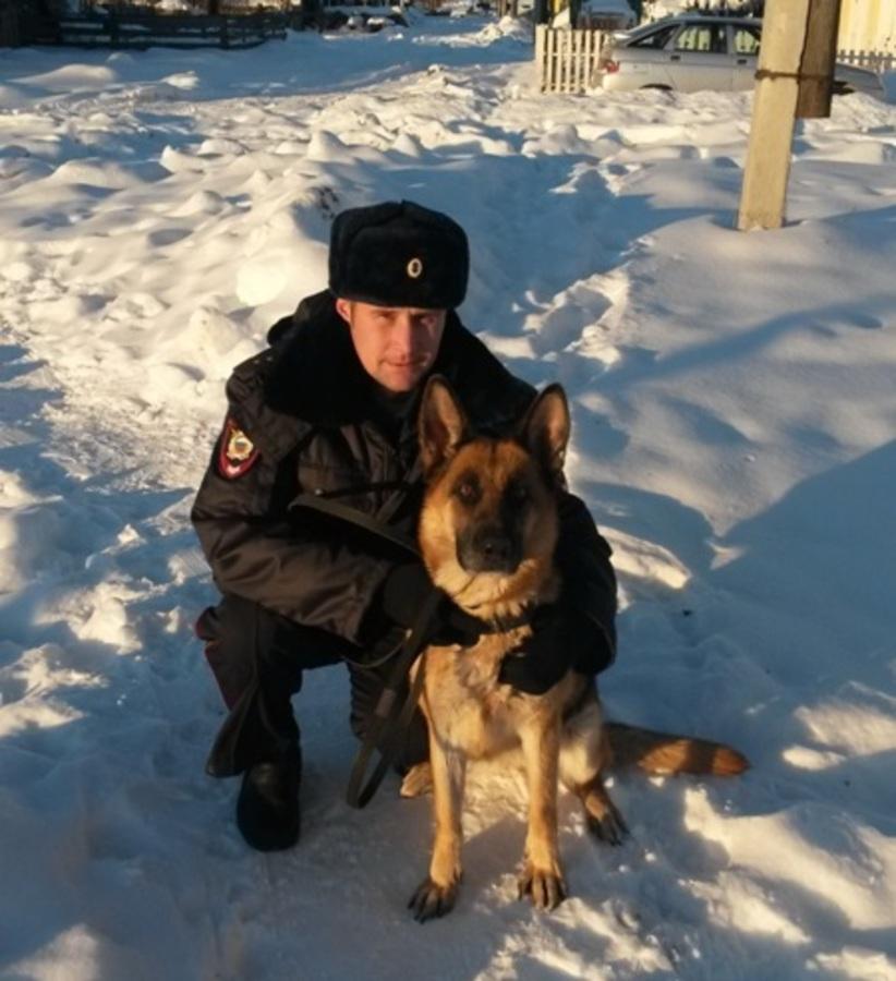 Служебная собака довела полицейских до вора