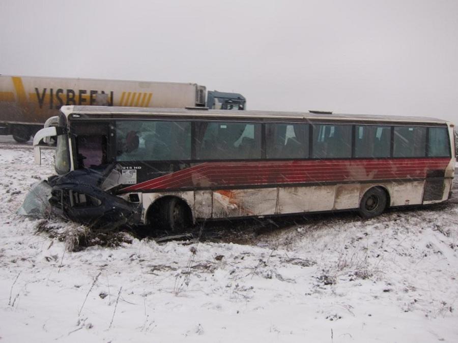 За выходные в Пермском крае произошли 4 автоаварии с автобусами