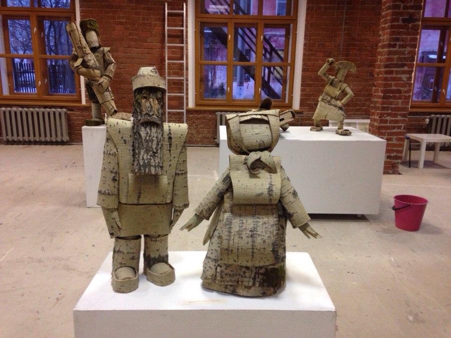 В Пермской Арт-резиденции выставлены коми-пермяцкие сказочные скульптуры - фото 1