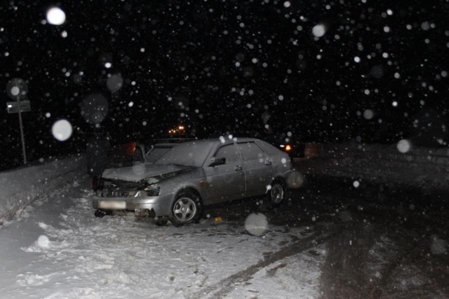 В Пермском крае в столкновении двух Приор травмированы три человека - фото 1