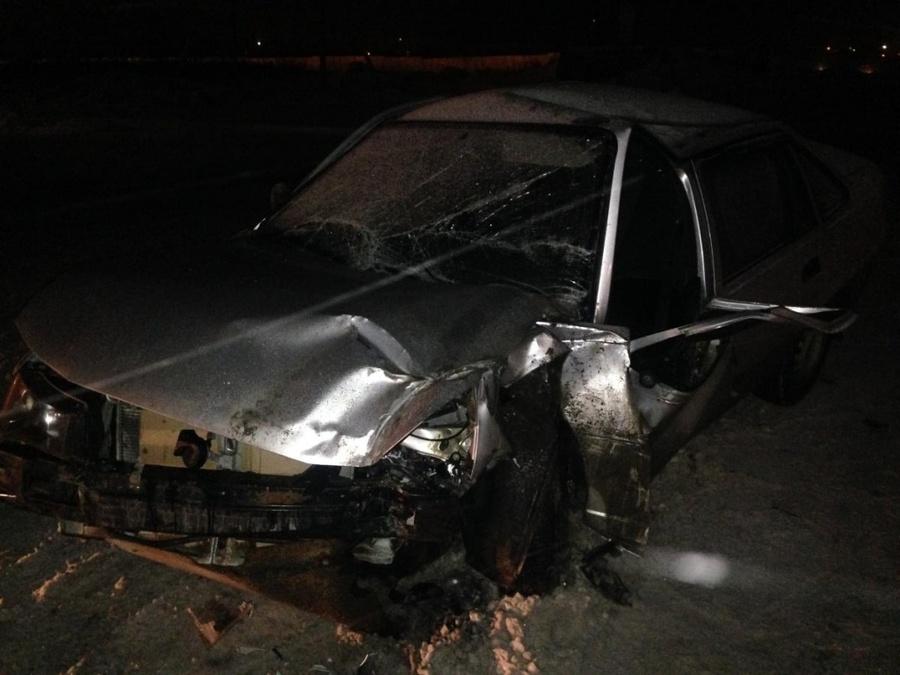 В Пермском районе водитель фуры подбил прицепом Нексию - фото 1
