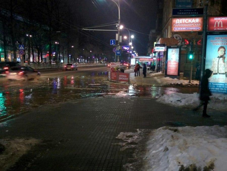 В Перми залило улицу Красноармейская