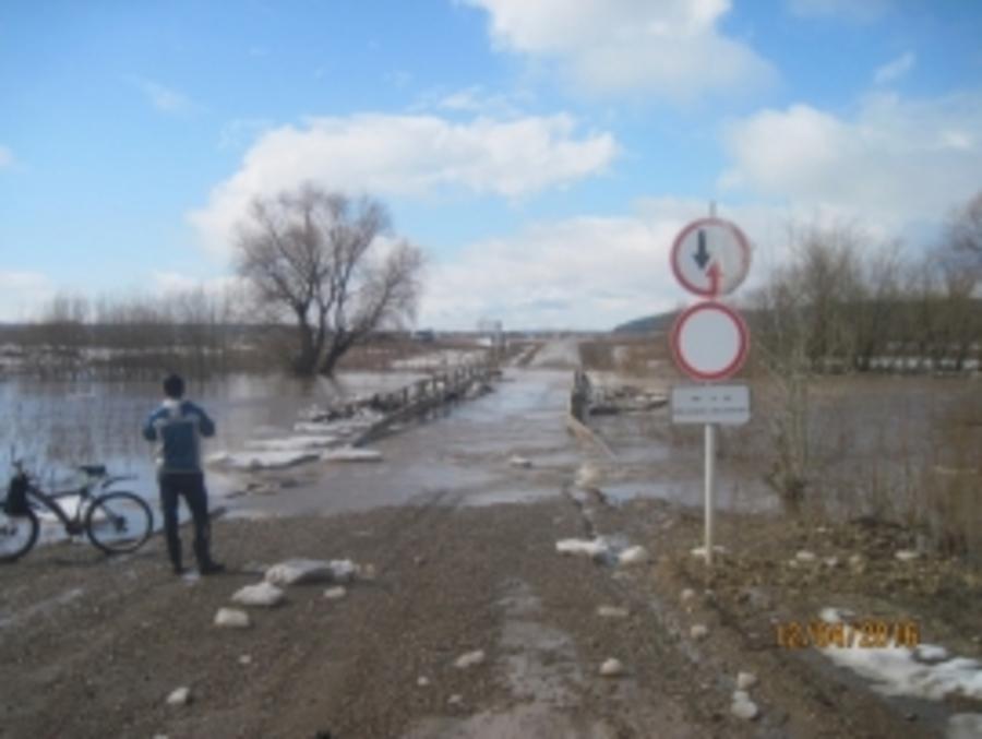 В Кунгурском районе затопило два автомобильных моста