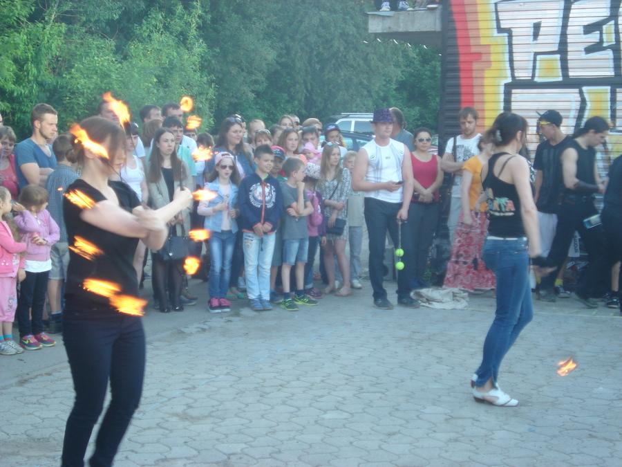В Перми прошло огненное шоу - фото 1