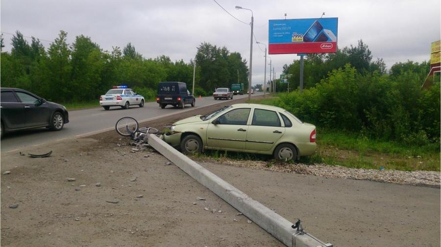 В Перми Калина сбила велосипедистку - фото 1