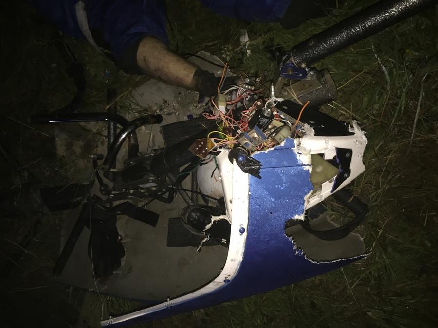В Пермском крае следователи провели осмотр места крушения мотодельтаплана