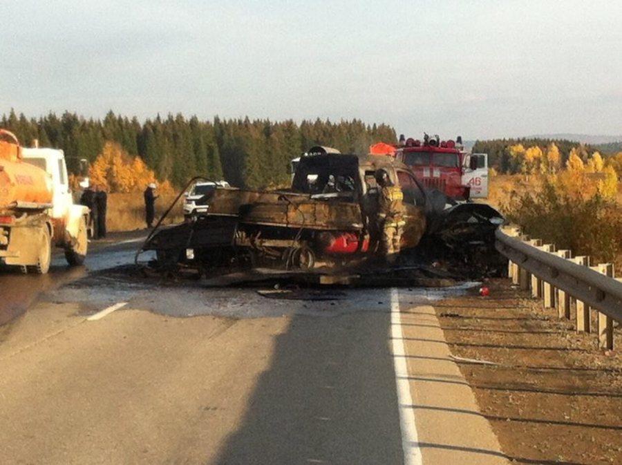 В Чусовском районе в столкновении 4 машин погибли два человека