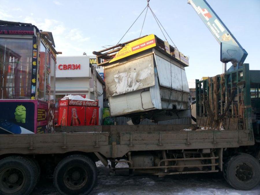 В центре Перми идет масштабный снос киосков