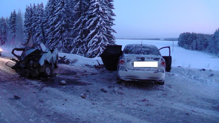 В Пермском крае в ДТП погиб пассажир, девушка-водитель и мужчина ранены