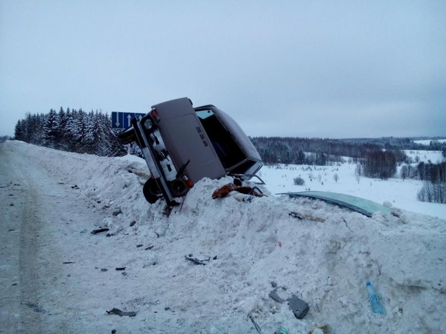 В Пермском крае водитель Нивы не уступил дорогу и погиб - фото 1