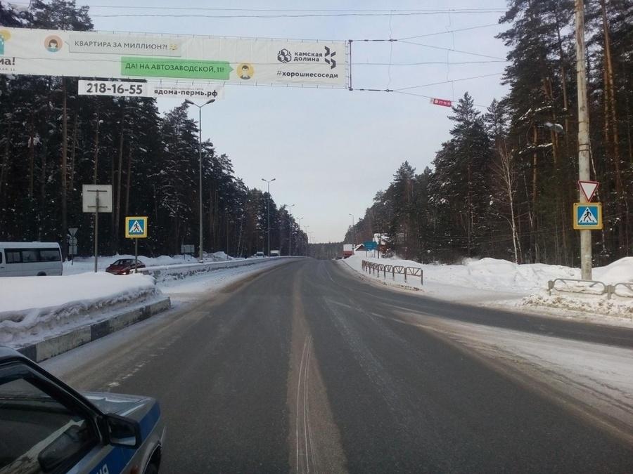 В Перми разыскивается водитель, сбивший на переходе двух девушек