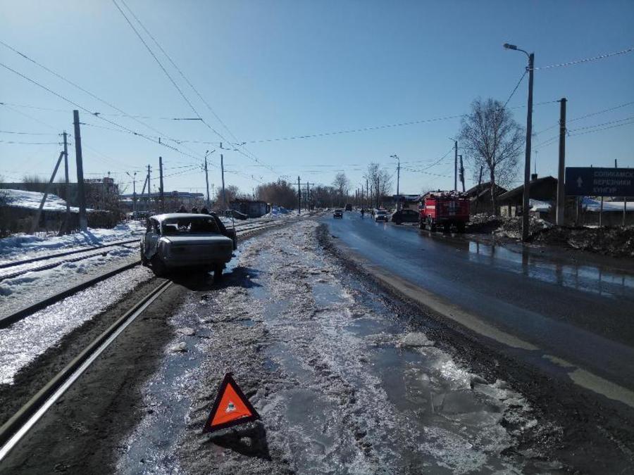 В Перми в автоаварии пострадали водители столкнувшихся автомобилей