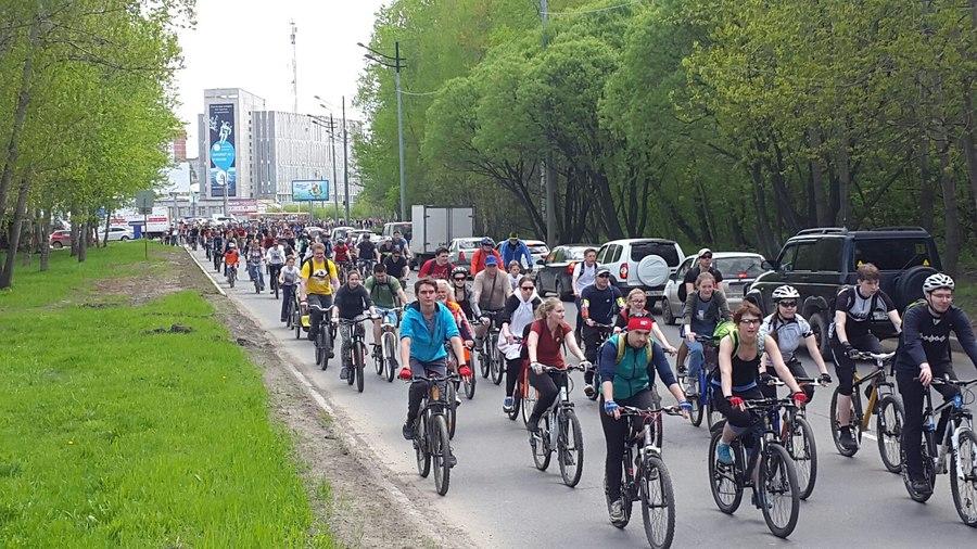 Сегодня Пермь пересела на велосипеды