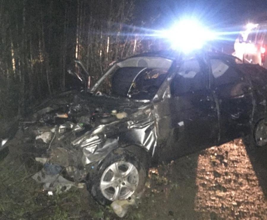 В Пермском крае в перевернувшемся автомобиле ранены два человека - фото 1
