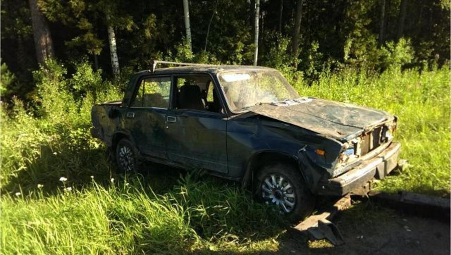 Водитель перевернувшегося под Краснокамском автомобиля отказался от медицинского освидетельствования - фото 1