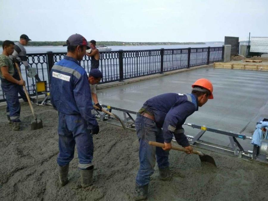 Пермскую набережную заливают бетоном