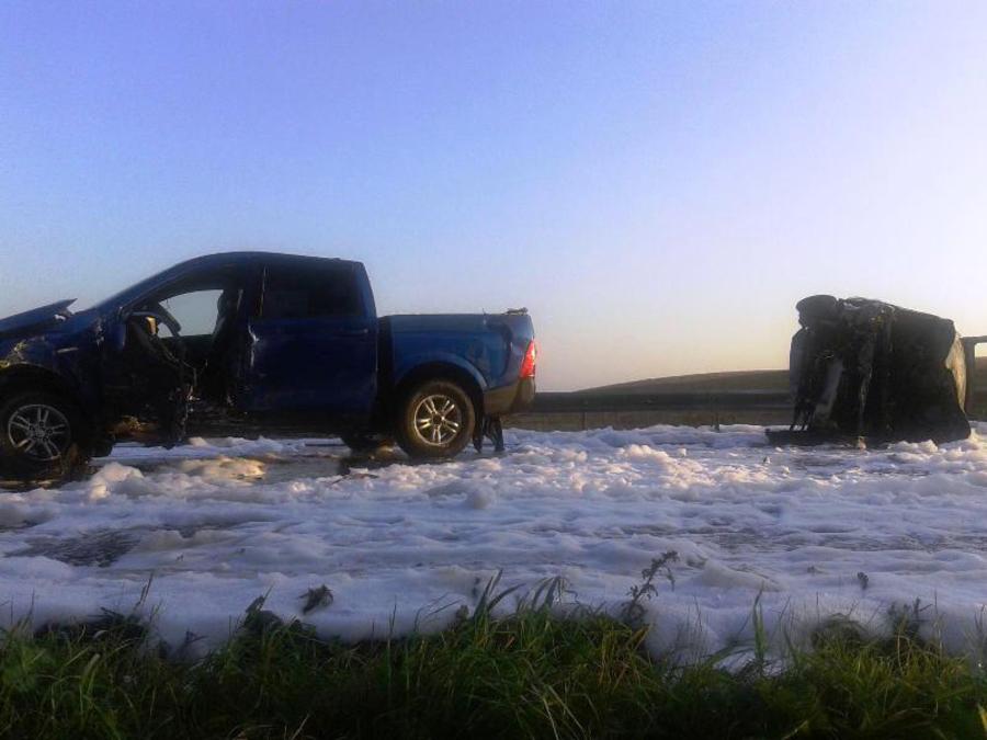В Чайковском районе в результате аварии сгорел Рено Дастер