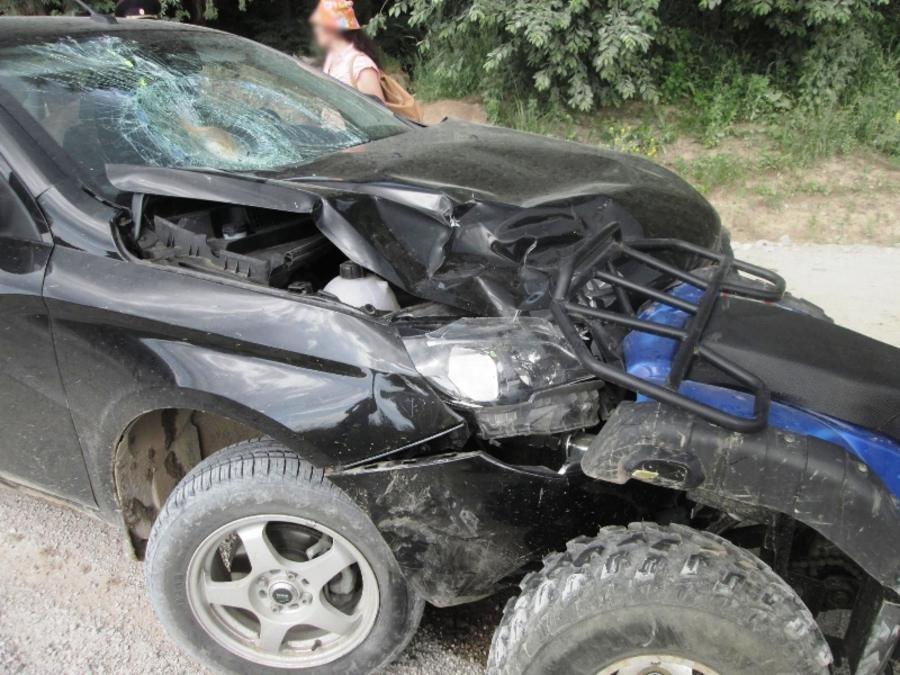 Передано в суд дело водителя, совершившего наезд на квадроцикл в Добрянском районе