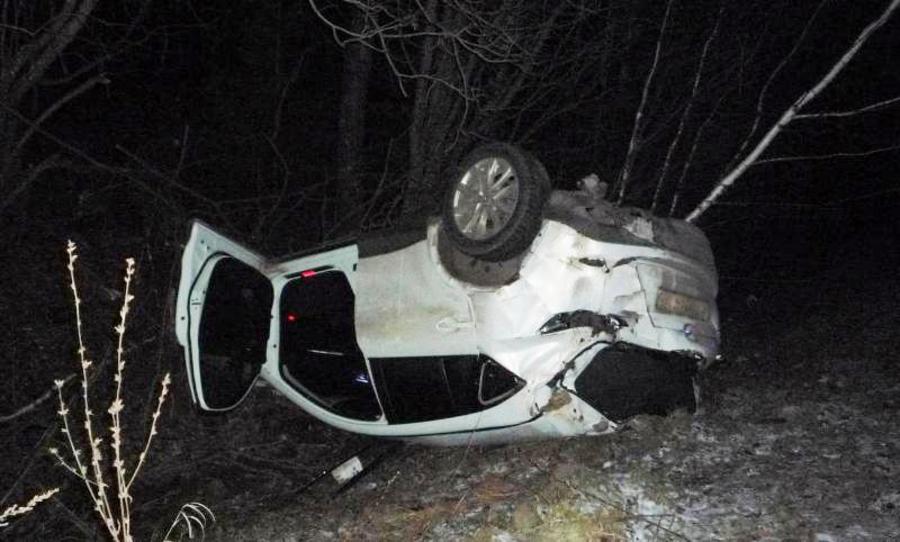 В Пермском крае в перевернувшейся Мазде погиб водитель