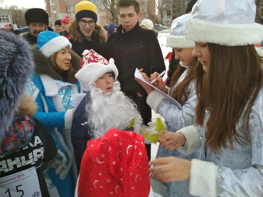 В Перми прошли забеги юных Дедов Морозов и Снегурочек