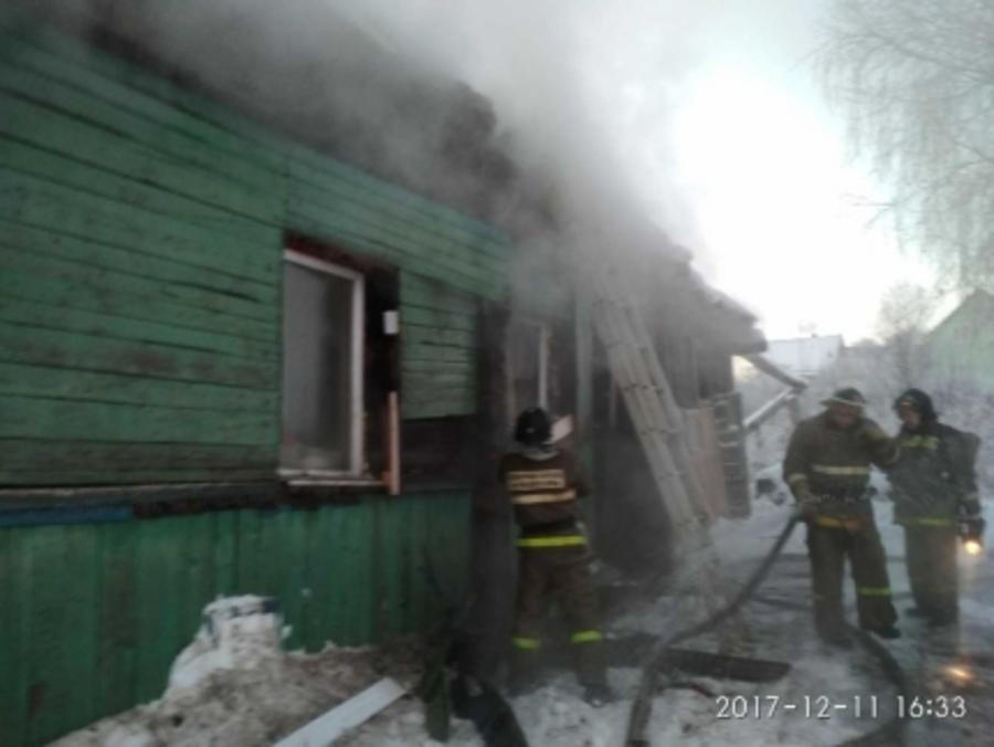 В Верещагино пожарные спасли четверых детей