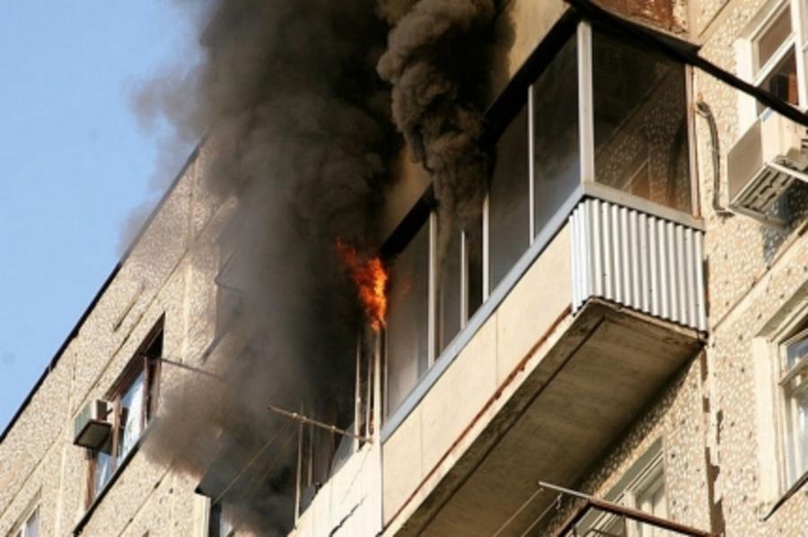 В Перми загорелась одиннадцатиэтажка