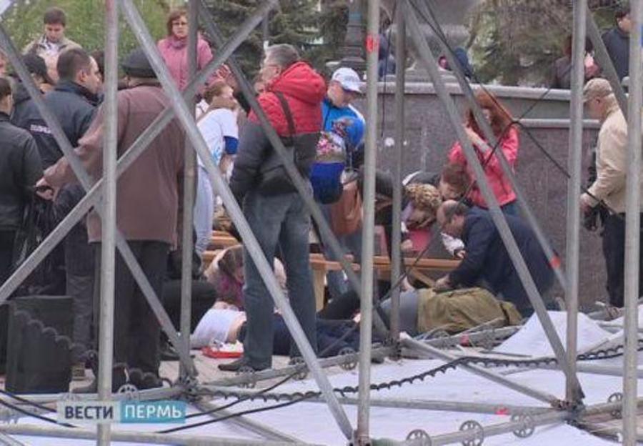 В Перми передано в суд дело об обрушении концертного оборудования, при котором пострадали дети