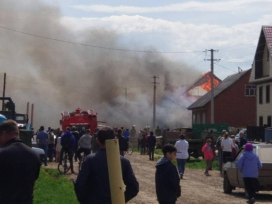 В Куеде бушевал сильный пожар
