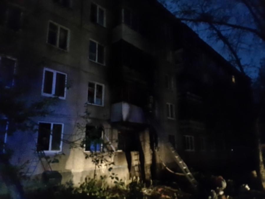 В Индустриальном районе Перми произошел крупный пожар