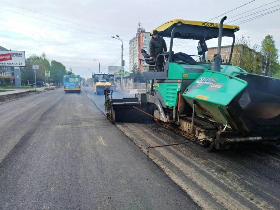 В Индустриальном районе Перми идет масштабный ремонт дорог
