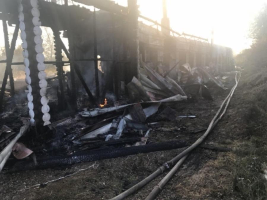 На пожаре в Чусовском районе погиб пожилой человек