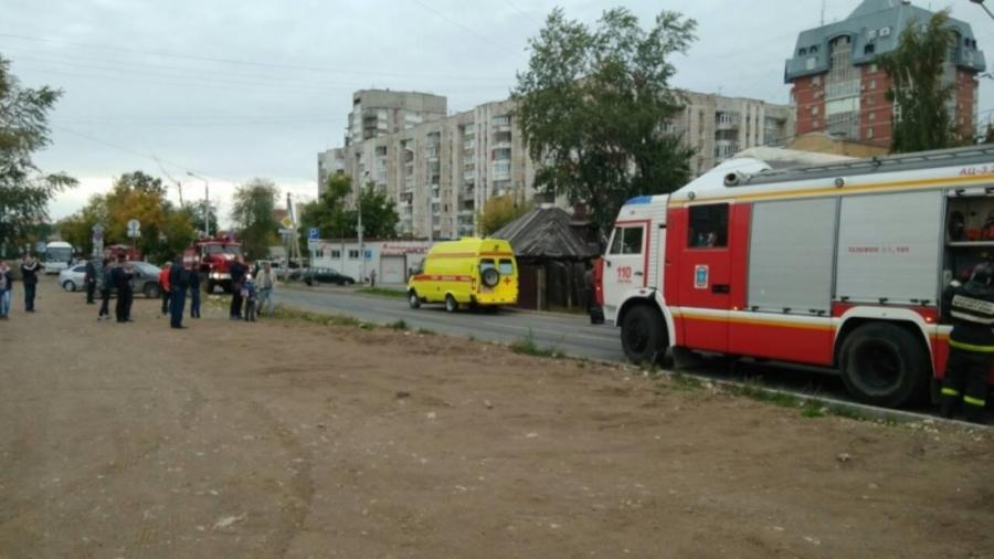 В центре Перми сгорел расселенный барак