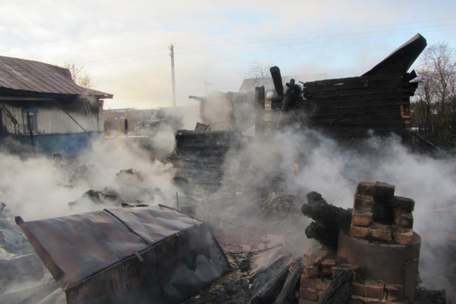 В Пермском крае в горящем доме погибли двое мужчин - фото 1
